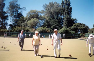 Members of the Fletcher Challenge Friendship Club enjoy a bowling afternoon at Avonhead, Christchurch 1998