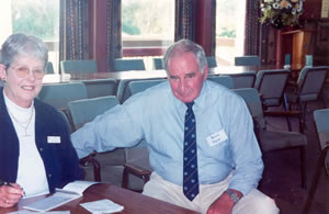 Two members of the Central Districts Retirees' Club;  Karen Bailley and Dereck Tuck 2002